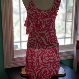 INC sz. medium hot pink sleevless dress